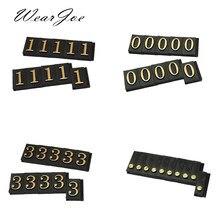 Lot de 10 étiquettes de prix ajustables identiques, assemblage de chiffres arabes, bijoux, Cothes, boutique, comptoir, affichage de chiffres, Cube, signe, P1