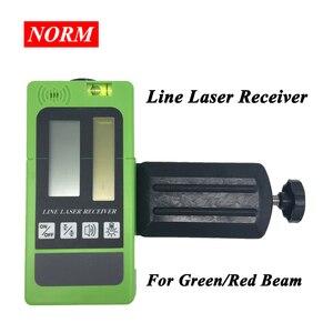 Novas linhas receptor a laser para norm leveler com modo de pulso detector a laser para vermelho/verde feixe nível ferramenta