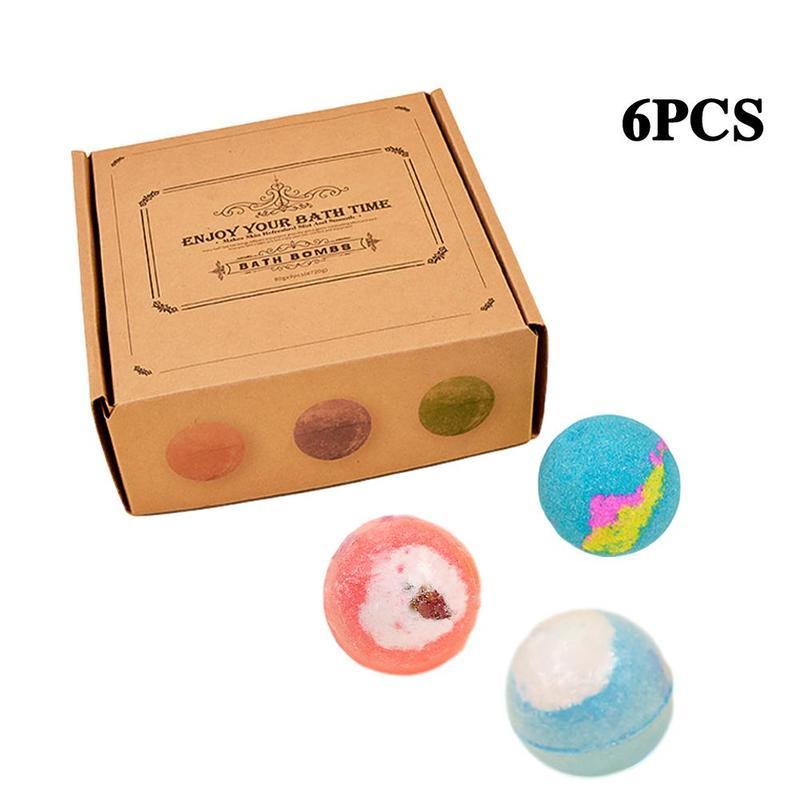 6/9/12 pcs(1 pcs 60g) Bath Bomb Skin Whitening Bath Salt Body Moisturizing Bath Bombs Ball Natural Bubble Bath Salt Ball Gift Se 2