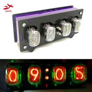 Электронная трубка zirrfa in12 Nixie, цифровой светодиодный Подарочный комплект часов, печатная плата PCBA с акрилом, без трубок