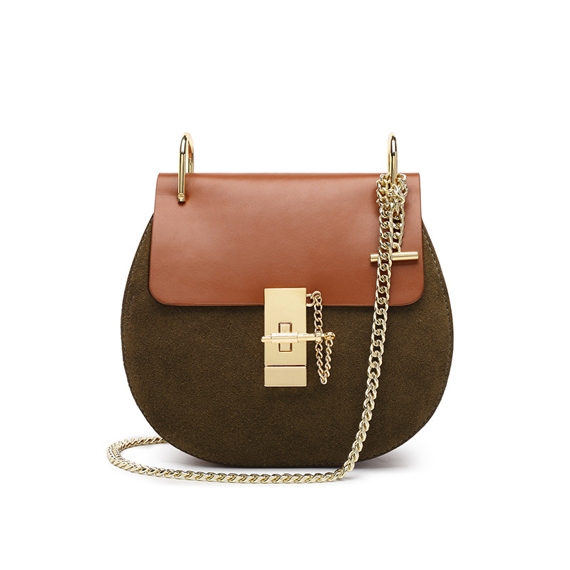 Chain Lock Handbag Fashion 2020 New Style WOMEN'S Leather Bags Women's Shoulder Square Sling Bag