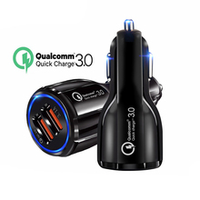 18W 3.1A Car Charger Quick Charge 3.0 Universal Dual USB Fast Charging QC For Samsung S9 Xiaomi Huawei Micro Mobile Phone In Car dual usb quick charge qc3 0 car charger for iphone xiaomi pocophone f1 huawei samsung mobile phone fast charging adapter in cell