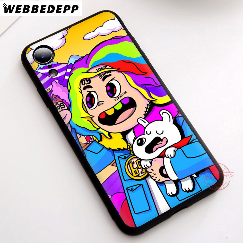 WEBBEDEPP 2N 6ix9ine Soft Silicone Phone Case for iPhone 5 5S 6 6S 7 8 Plus X XS Max XR Back Cover in Fitted Cases from Cellphones Telecommunications