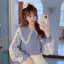 Модная новинка Милая Тяжелая промышленная кружевная рубашка