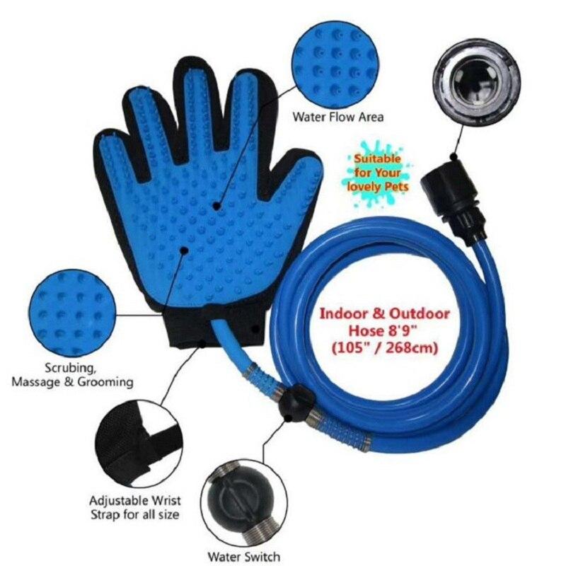 Pet Shower Sprayers Head Handheld Cat Bathing Shower Tool for Dog Sprayer Bathing Glove 360 Washing Hair Long Hose Pet Supplies 4