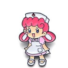 Nurse Joy Zinc Alloy pins para backpack pride clothesmedal for bag shirt hat insignia badges brooches men women medals E0314