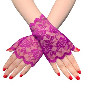 Image 3 - 6 Pairs Fingerless Women Lace Gloves Floral Lace Gloves Sunblock Lace Gloves Dressy Gloves for Wedding Dinner Parties ST254