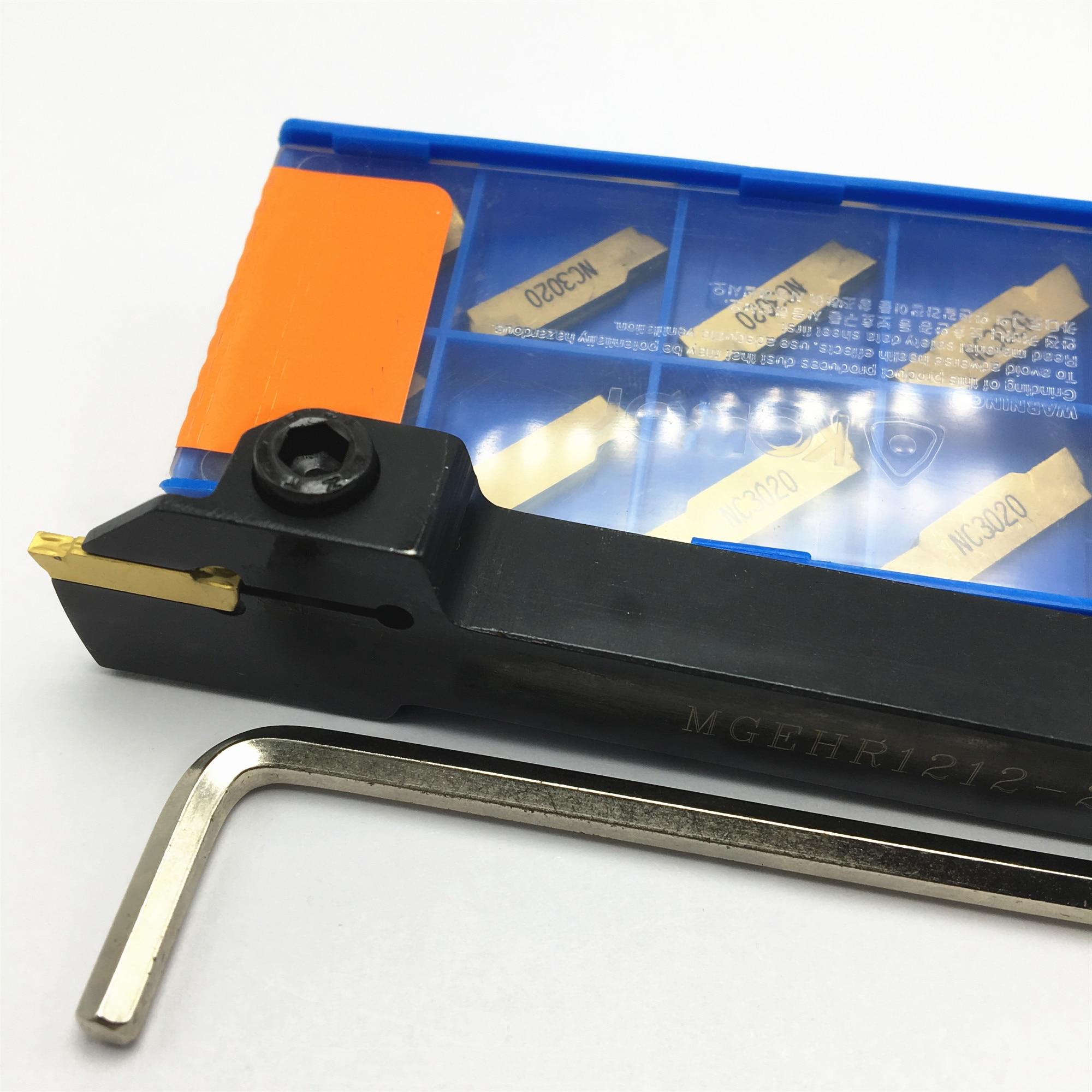 MGEHR1010 MGEHR1212 MGEHR1616 MGEHR2020 MGEHR2525 porte-outil de rainurage externe lame en carbure, outil de tournage de lame de 10 pièces