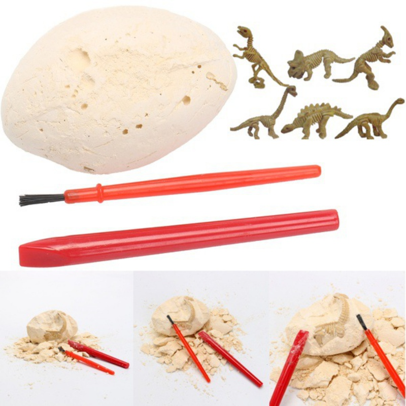 NEW Dino Egg Dig Kit Break Open Unique Dinosaur Eggs Discover Cute Dino Models Archaeology Science Learning & Education 1 Set