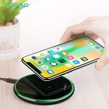 FDGAO 15W Qi Wireless Charger Fast Charging Pad For iPhone X XS XR Samsung S10 S9 Huawei P30 Pro Phone Quick