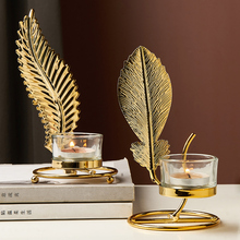 Nordic Romantic Candlestick Decoration Golden Iron Candle Holder Candle Dinner Props Home Table Creative Decoration crystal candle holders european upscale candlestick table romantic candle sticks wedding centerpieces for home decoration