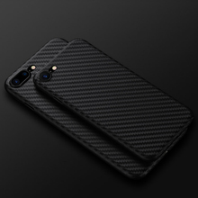 Carbon Fiber Case for iphone X iphone 7 8 plus thin Slim Back Luxury Case for iphone 6S 6 plus iphone 8 Silicon Hard Black Cover cheap Bioumei Fitted Case Dirt-resistant Anti-knock Heavy Duty Protection Apple iPhones iPhone 6 Plus iPhone 6s plus iPhone 7 Plus