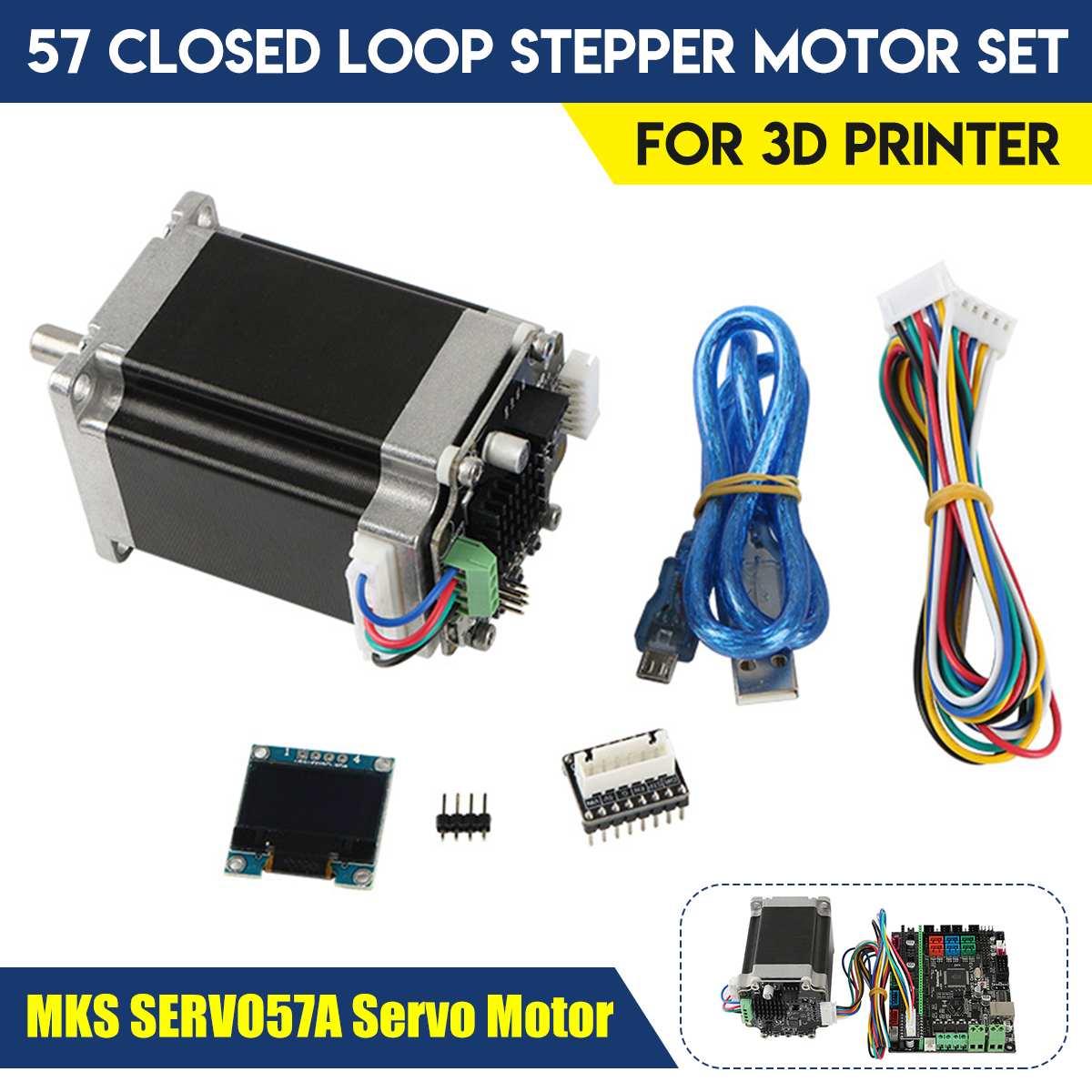 Stm32 57 circuito fechado conjunto do motor passo a passo para diy impressora 3d cnc gravador mks servo57a servo motor dropshipping