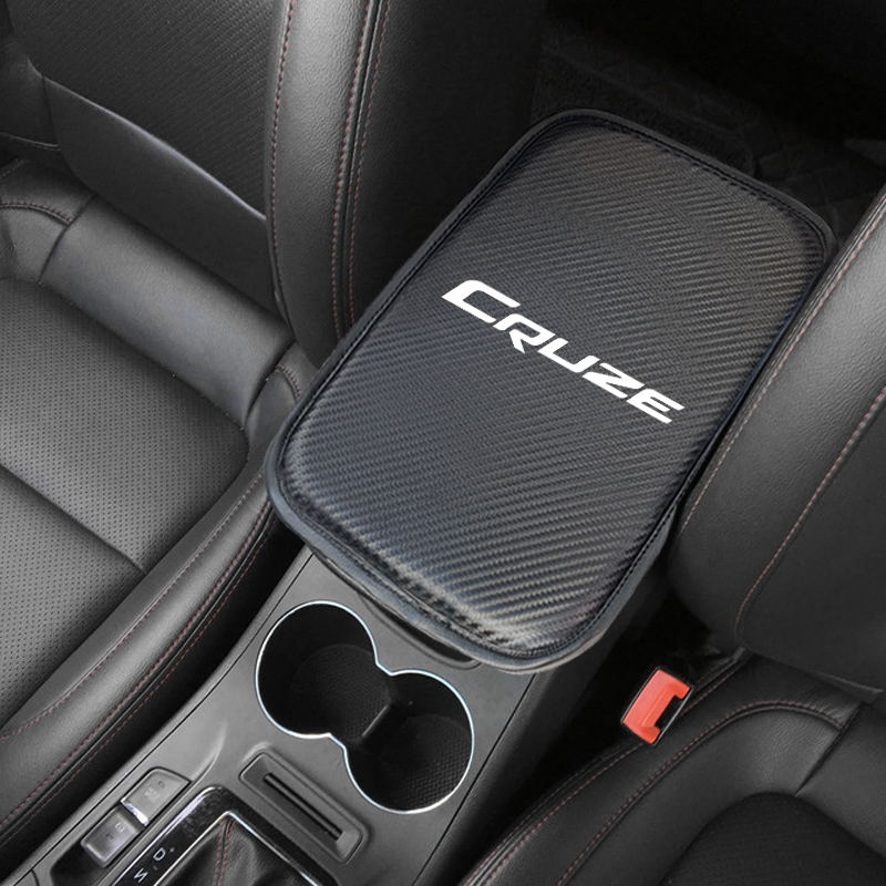1PCS Car Armrest Pad Covers Auto Seat Armrests Storage Protection Cushion For Chevrolet Cruze Captiva Colorado Spark Malibu Trax