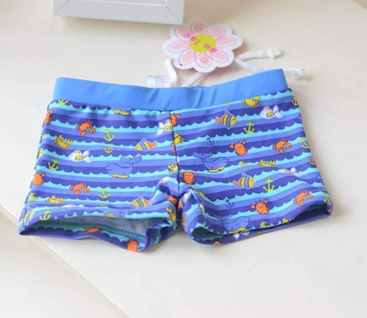 Blue Belt Blue Little Crab CHILDREN'S Swimming Trunks Cute Boy Infants Small Children Swimming Hot Springs AussieBum