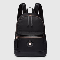 BLACK COLOR NYLON FABRIC WITH ROSE GOLD DAYDREAM LOGO BACKPACK