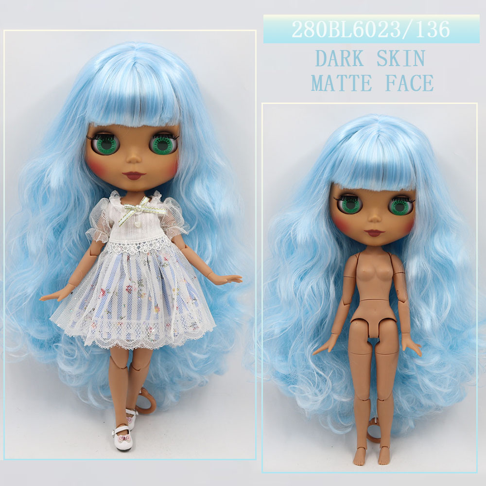 """Fashion Blythe Doll Nude ICY Factory 12/"""" Joint Body Matte Face White Skin /& Gift"""