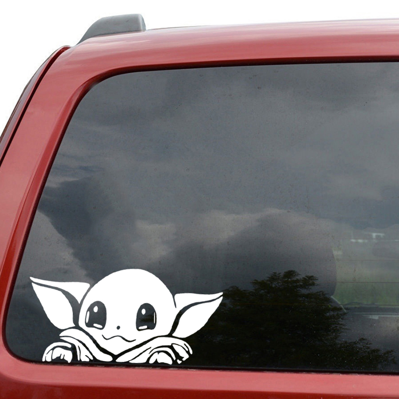 1pcs 20*10cm Baby Yoda Toys Cute Car Windows Stickers Star Wars Sticker Waterproof Durable Stickers