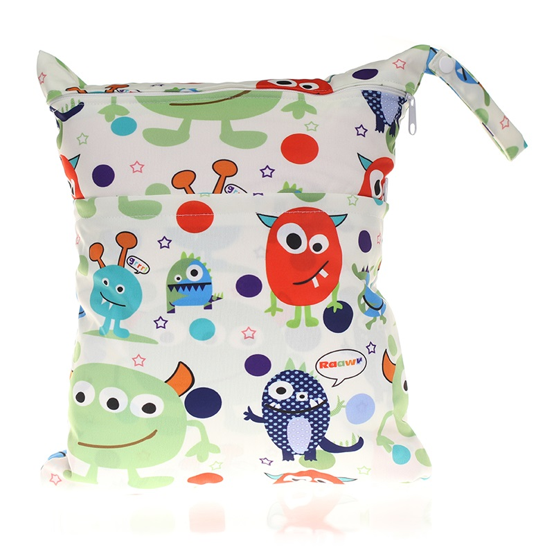 [CHOOEC]New Digital Printing Washable Reusable Cloth Diaper Nappies Bags Waterproof Swim Sport Travel Carry Bag Big Size:30X36cm