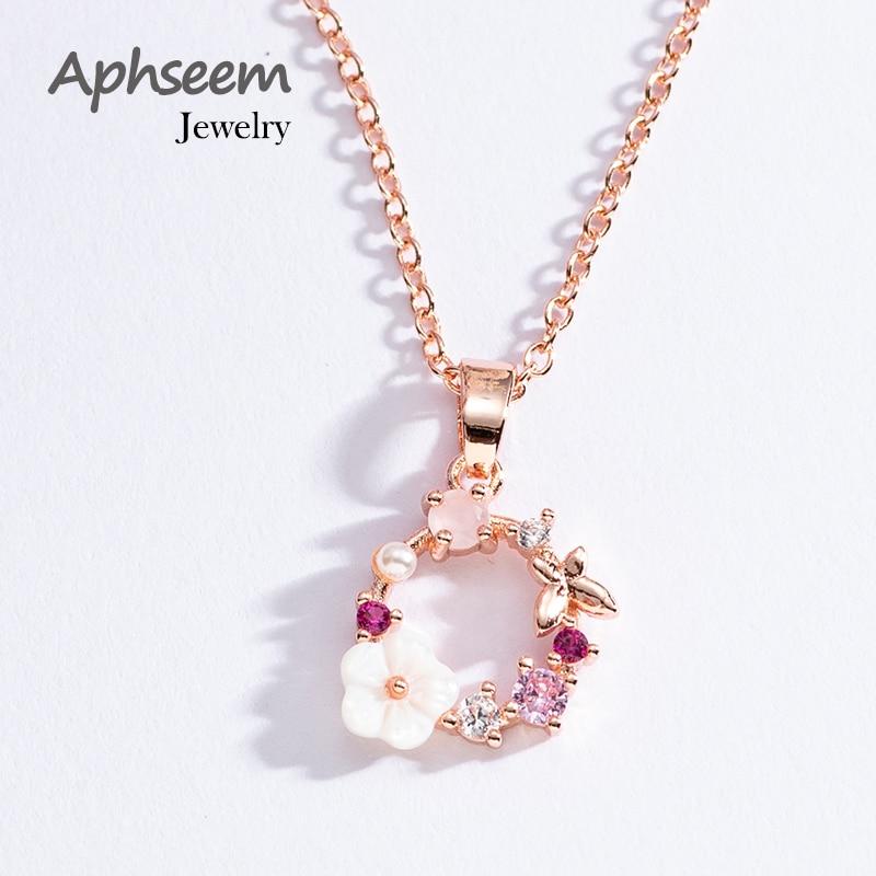 Модное креативное ожерелье с бабочками и цветами, циркониевая Хрустальная жемчужная ракушка, гирлянда, подвеска, ожерелье для женщин, ювели...