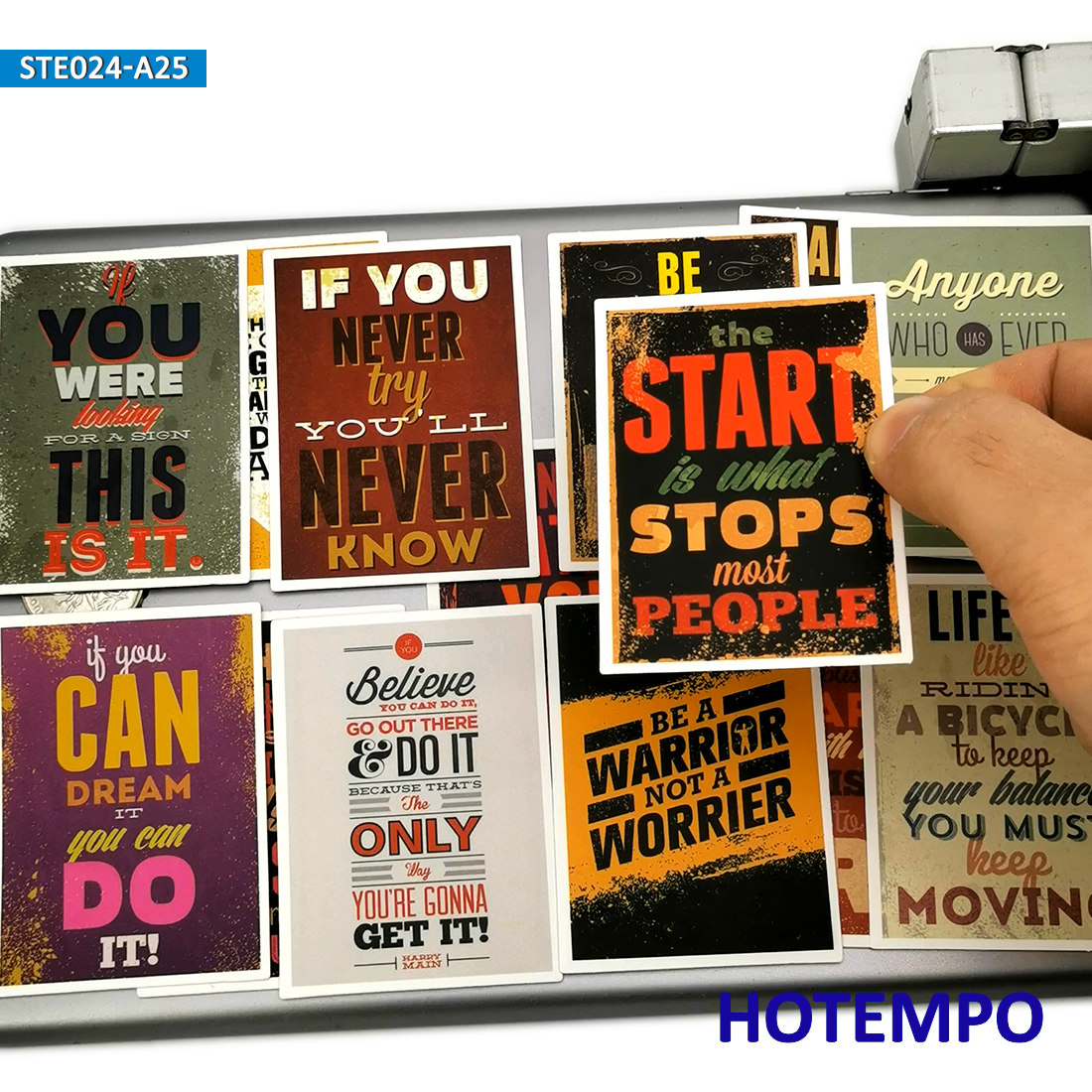 25pcs Fashion Style Positive Energy Slogan Motivational Poster Stickers for Mobile Phone Laptop Luggage Moto Car Decal Stickers