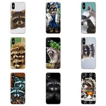 Animal Raccoon Art Coque For LG K50 Q6 Q7 Q8 Q60 X Power 2 3 Nexus 5 5X V10 V20 V30 V40 Q Stylus Print Mobile Phone Shell(China)