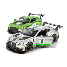 1:32 Continental GT3 Sports Car Alloy Car Diecasts & Toy Vehicles Metal Toy Car Model High Simulation Collection Gifts 101