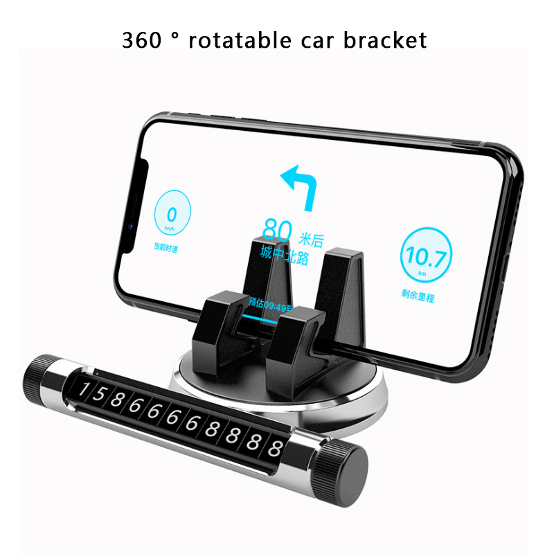 Phone Car Holder With Stop Sign Universal  Car Navigation Bracket Dashboard Phone Stand New Multi Rotatable Phone Holder