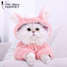 Hoopet-vêtement animal chat quatre pieds | Cochon rose, manteau sweat-shirt à capuche, chaud, hiver, pour chaton chat(China)