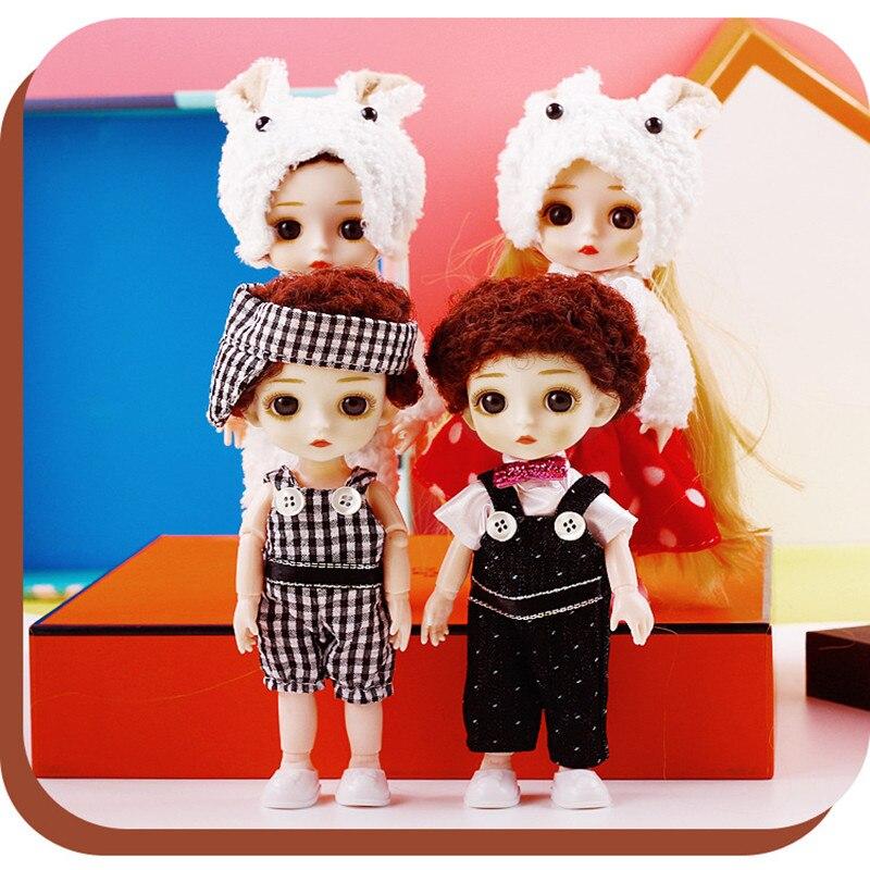 Muñeca BJD de 16cm para bebé, ropa cambiable desnuda, muñeca con 13 articulaciones móviles, ojos 3D, maquillaje de moda, niña, regalo de cumpleaños, juguetes para niños DIY|Muñecas| - AliExpress