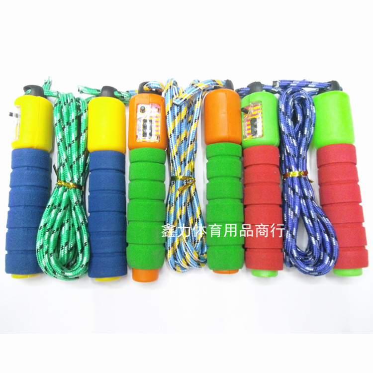 Wholesale Students Adult Children Losing Weight Fitness Jump Rope Sponge Anti-slip Handle Count Jump Rope 2.8m