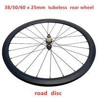 CYCST 700C 38/50/60mm tubeless road bike carbon wheels NOVATEC D412SB 142x12 disc wheelset 25mm width carbon disc rear wheels|Bicycle Wheel|   -