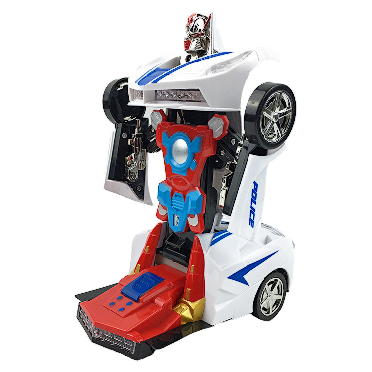 Daxing Electric Transformer Light And Sound Universal Deformation Robot Children Toy Car Model Stall Hot Selling