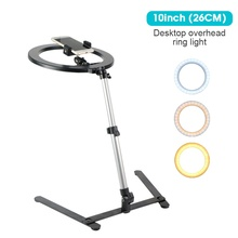 zomei 10inch selfie led ring light with stand camera studio light ring for smartphone with phone holder for live video makeup LED Selfie Ring Light With Phone Holder Stand Phone Camera Photo Studio Ring Lamp Fill Light For Youtube Live Video Photography