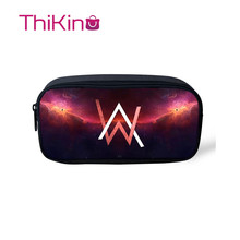 Thikin Casual Pencil Case for Girls Cool DJ Alan Walker Pen Bags Student School Supplie Boys  Purses Kids
