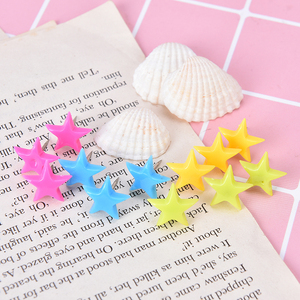 12pcs Decorative Flower Star Shaped Push Pins for Cork Board Bulletin Boards Thumb Tacks Home and Office Supplies