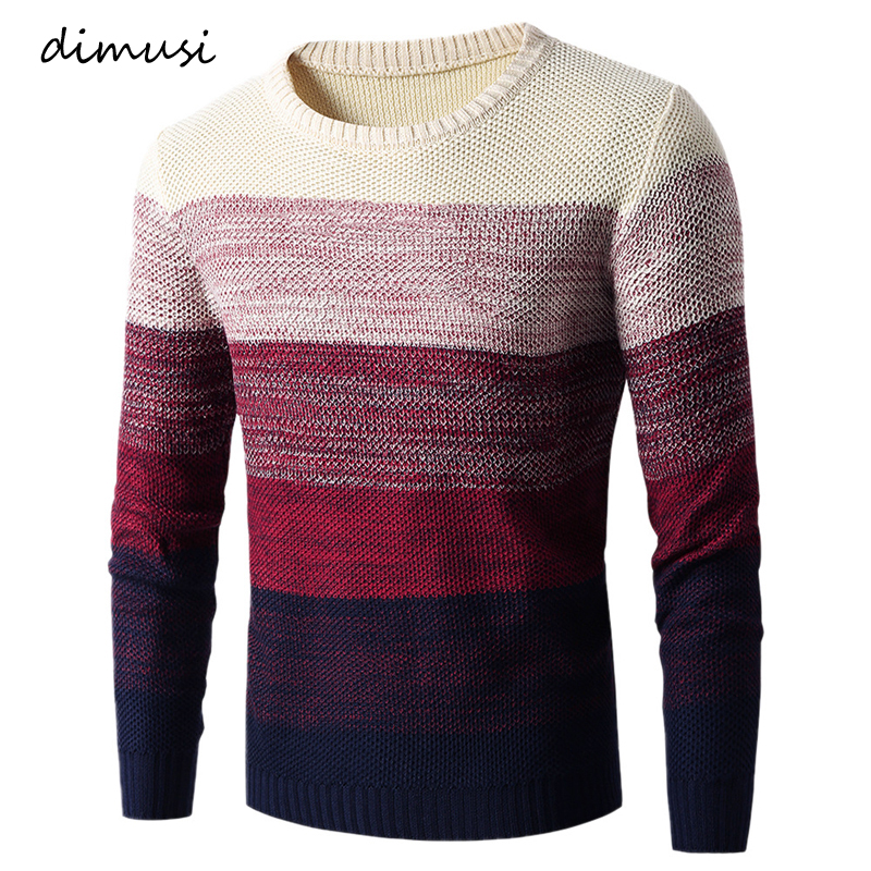 DIMUSI Autumn Winter Men Pull Sweater Casual Men O-Neck Turtleneck Shirts Sweaters Men Slim Fit Wool Knitted Pullovers Clothing