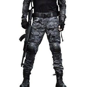 Image 5 - Camouflage Taktische Bekleidung Military Hosen Mit Knie Pads Männer Tactical Cargo Hosen Soldat UNS Armee Hose Paintball Airsoft
