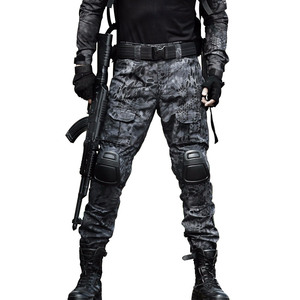 Image 5 - 위장 전술 복장 무릎 패드와 군사 바지 남자 전술화물 바지 군인 미국 육군 바지 Paintball Airsoft