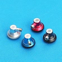 15.4mm düz kulaklık ücretsiz DIY MMCX Metal kulaklık konut Case ayrılabilir kulaklık tam aralıklı