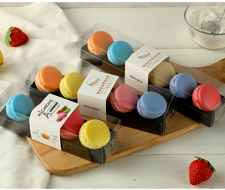 50pcs Macaron Packing Box Beautifully Packaged Wedding Party Cake Storage Biscuit Paper Box Cake Decoration Baking Accessories