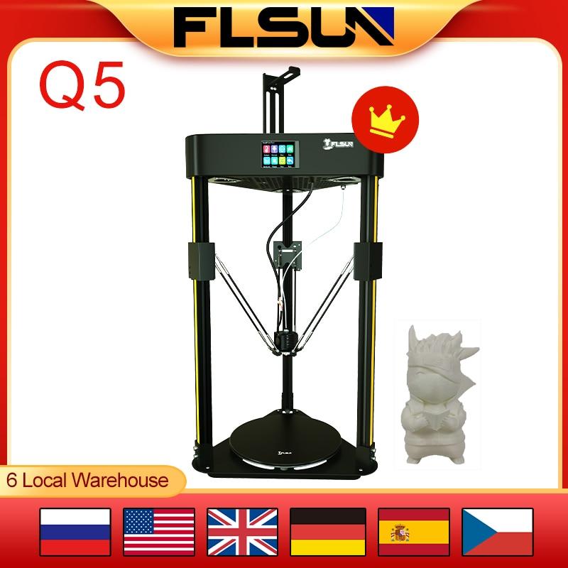 Flsun Q5 3D Printer Delta Kossel Touch Screen DIYmodel TMC2208 Silent Driver Auto Leveling Resume Print EasyAssembly 32Bit Board