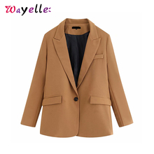Women Blazers Chic Two Piece Suit Long Sleeve OL Elegant and Pants Pockets Coats Solid Casual
