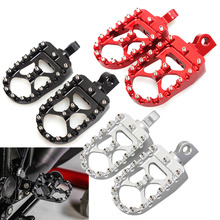 Motorcycle Wide Fat FootPegs Foot Pegs Pedals Foot Rests Fit For Harley Dyna Softail Road King Sportster 883 1200 CVO Fat Boy