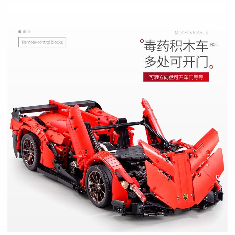 13079 poison RC Car MOC 10559 Veneno Roadster Motor Power Functions Fit App for legoing Technic Building Blocks Bricks Toys Gift 21
