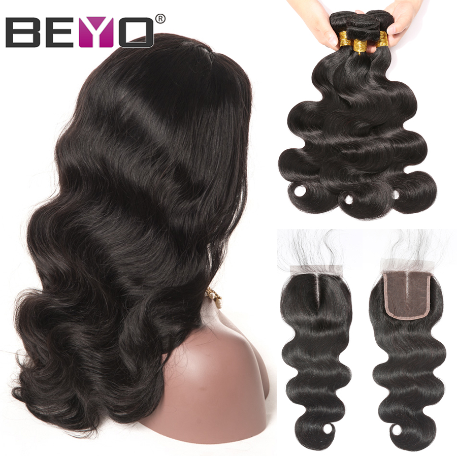 300% Density Free Customized Wig Brazilian Human Hair Wigs 4X4 Lace Closure Wig By Remy Body Wave Bundles With Closure