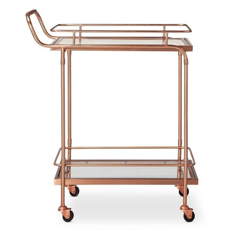 European Golden Hotel Drinking Trolley Restaurant Mobile Delivery Trolley Creative Edge Tea Trolley Households