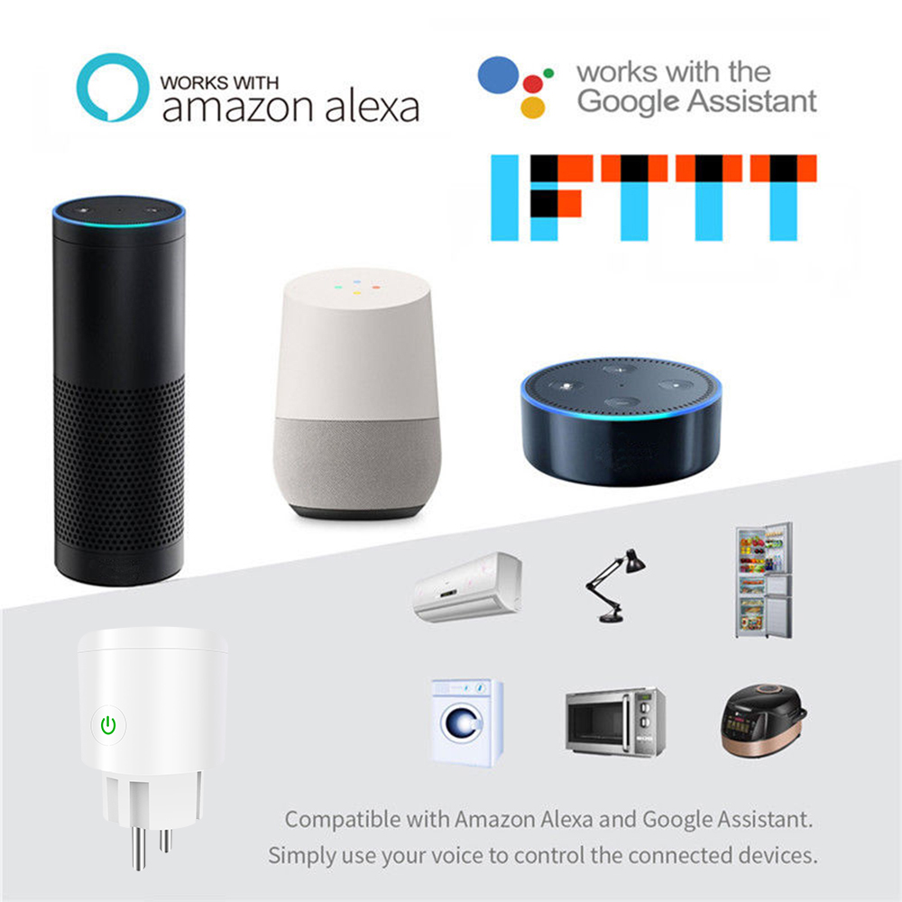 Kompatybilne z urządzeniami wspierającymi Google Assistant lub Alexa.