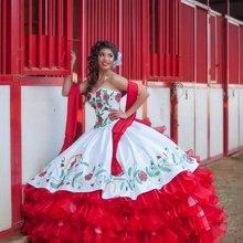 Bealegantom бело красное бальное платье Бальные платья 2021