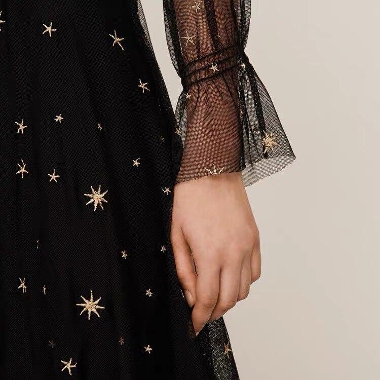 Nieuwe fairy jurk tweedelige vrouwen ster borduren jurk vrouwen kleding - 4